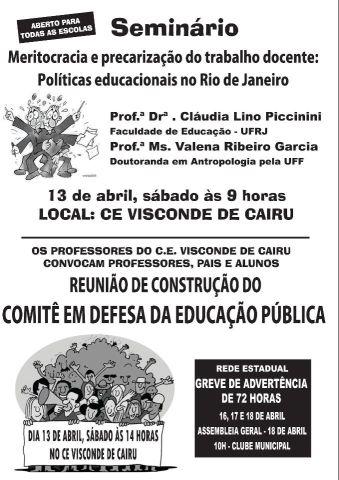 Comitê em Defesa da Educação Pública